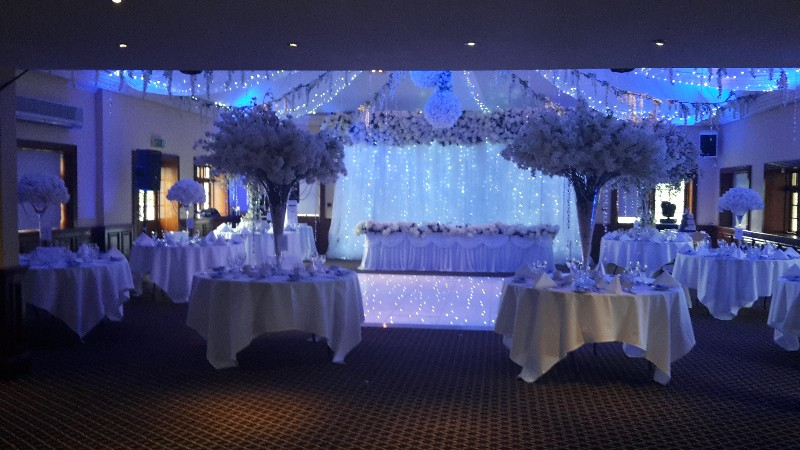 Wedding Reception with White Lighting