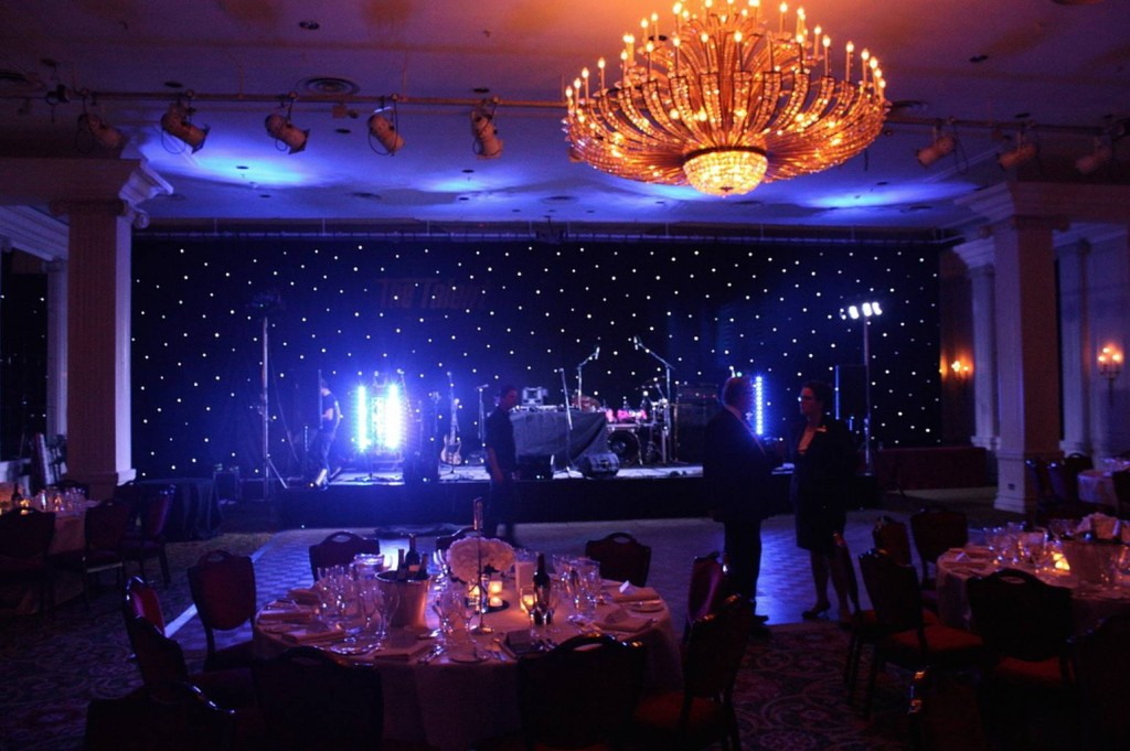 Stage Hire and Lights for a Wedding