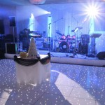 Stage Hire and Light Up Dancefloor at a Wedding