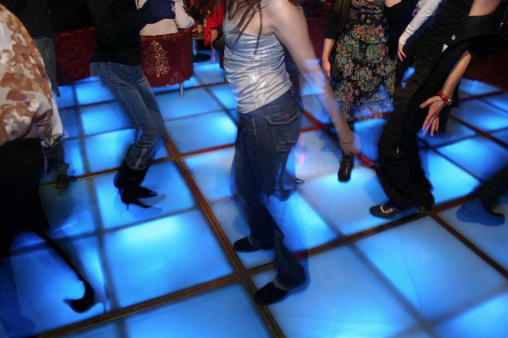 ELECRTIC BLUE DANCE FLOOR
