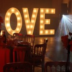 Light Up Letters at a Wedding Reception