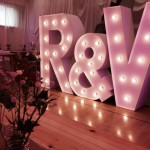 Light up initials at an event