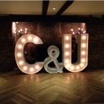 Light Up Letters for a Wedding