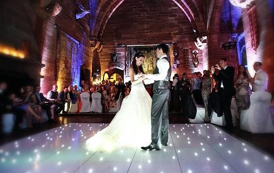 LED Dance Floor at a Wedding